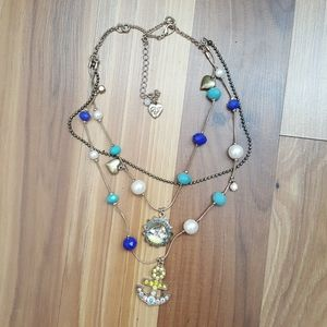 Betsy Johnson nautical necklace